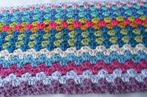 Crochet blanket - 24 rows