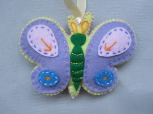 felt butterfly from Dovecraft Kit