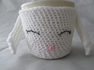 Bunny plant pot cover