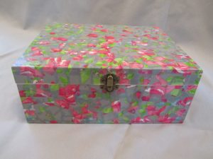 Decoupage Flowery Box