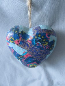 Decoupage Heart