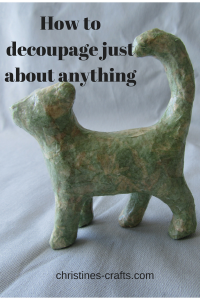 How to decoupage just about anything pin 2