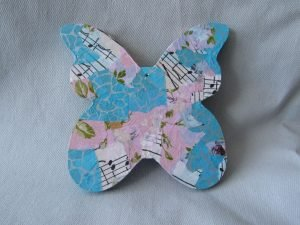 Decoupaged butterfly