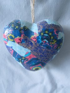 Decoupaged heart
