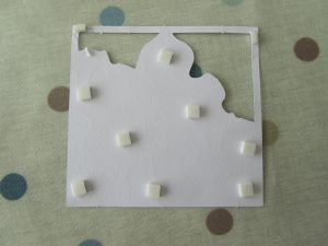 A2 with foam squares attached