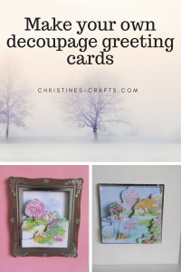 Make your own decoupage greeting cards