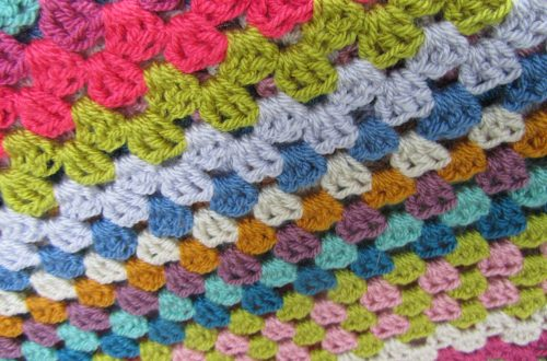 crochet blanket detail