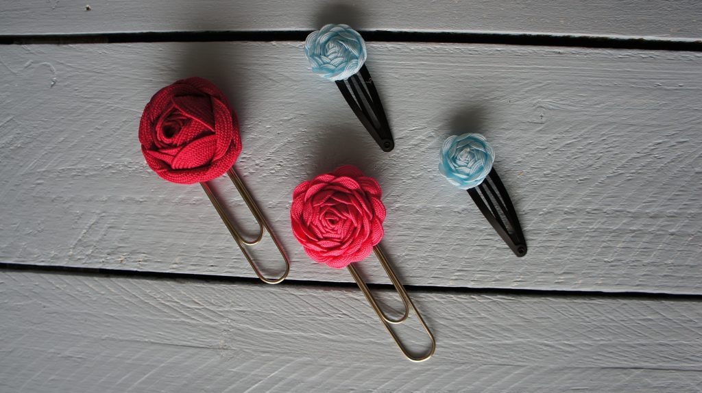 Ric Rac Flower Hair Slides