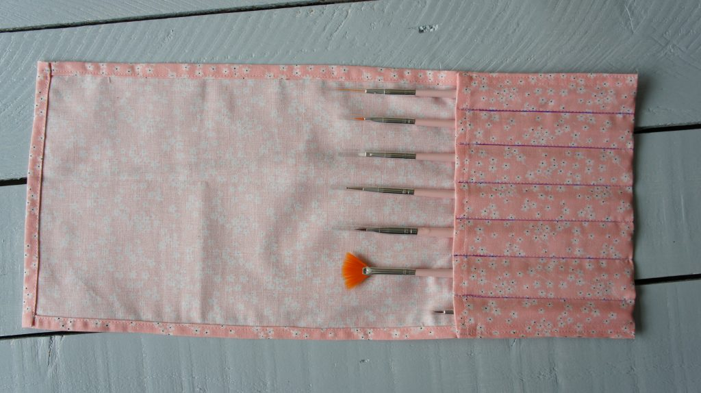 Pockets sewn and brushes in place