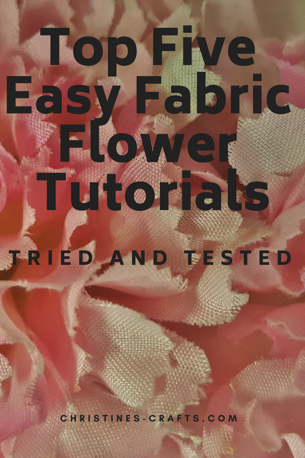 Fabric Flowers Tutorials Pin