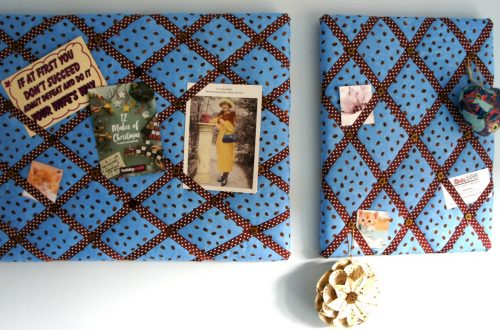 Fabric pinboards