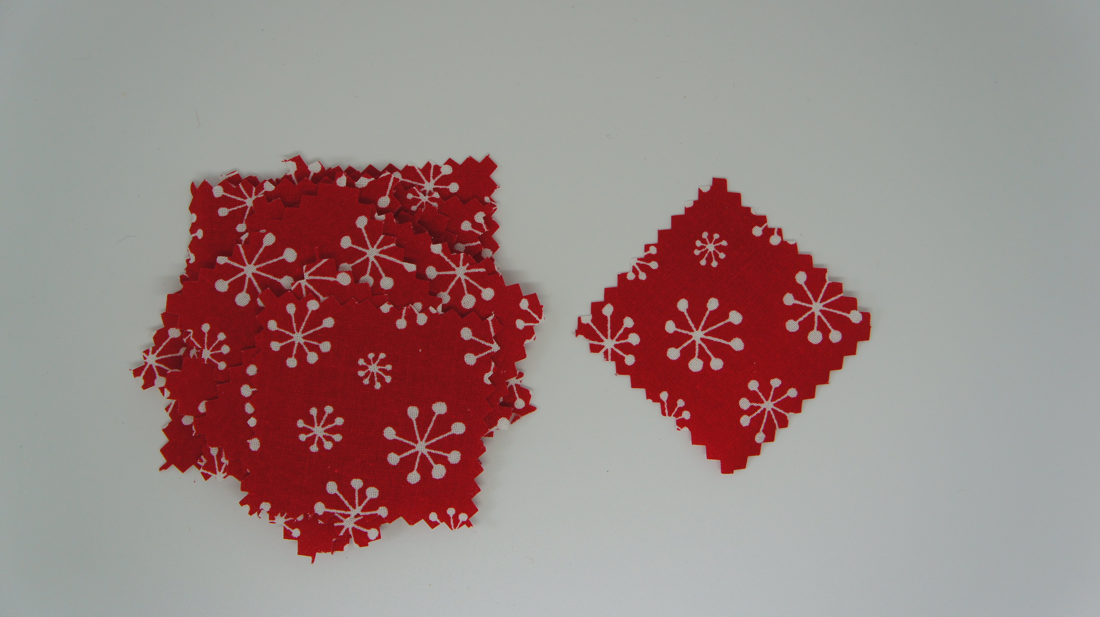 Christmas Fabric Baubles fabric squares