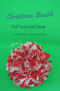 Christmas Fabric Baubles full tutorial pin