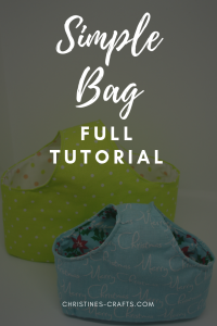 Simple bag full tutorial pin
