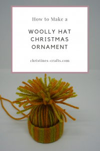 Woolly Hat Ornament Pin