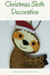 Christmas Sloth Decoration Kit