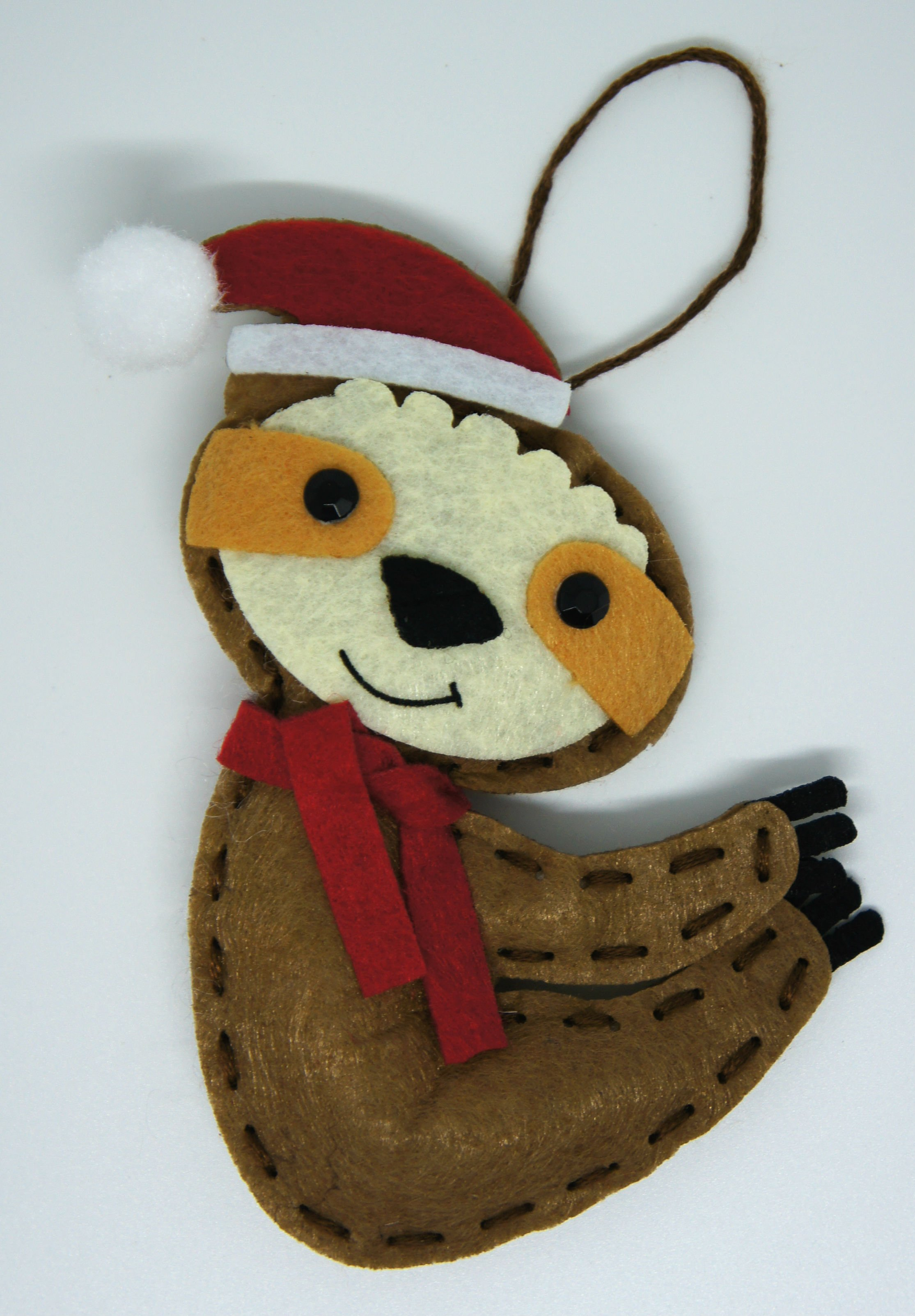 Christmas Sloth Decoration Kit Completed
