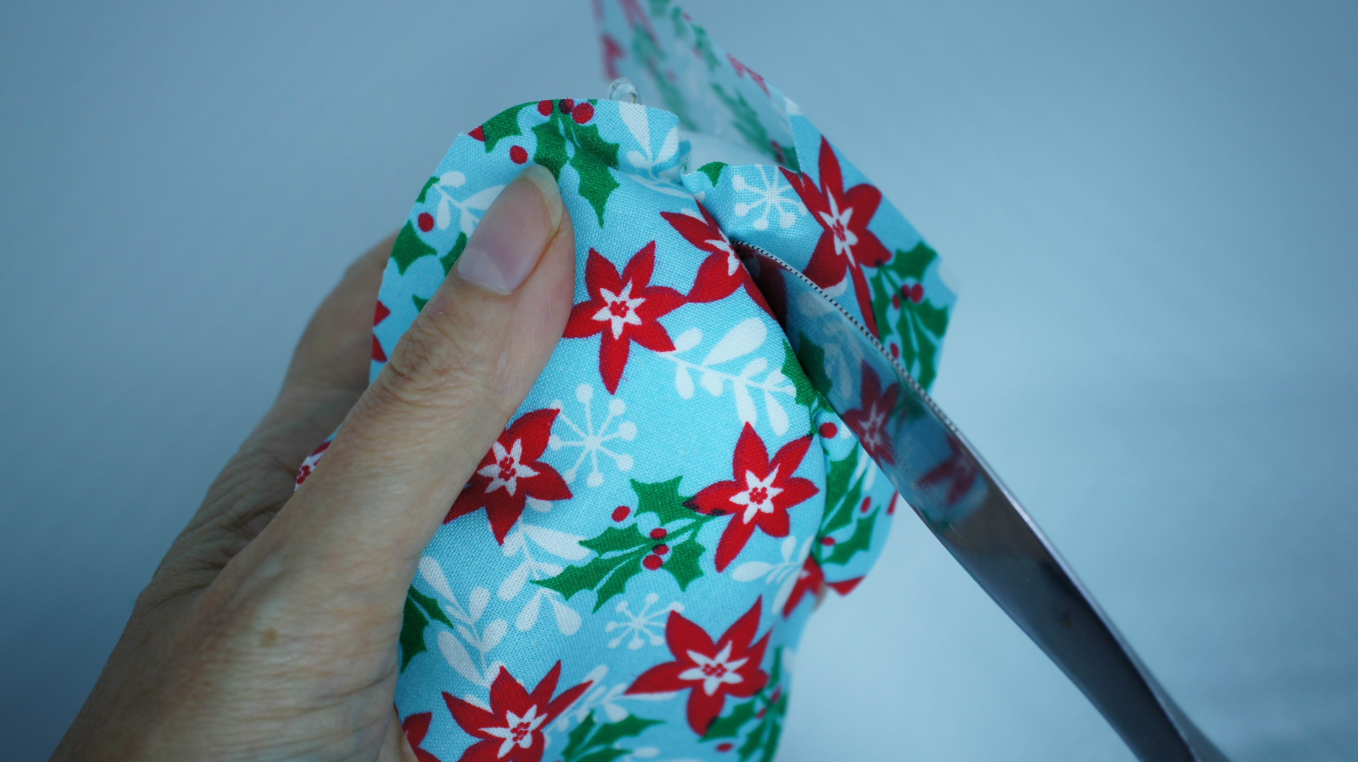 Christmas Fabric Ornament fabric application