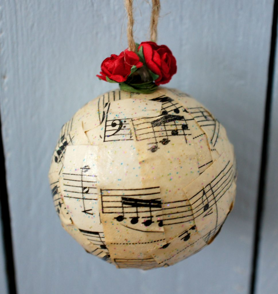 Completed Christmas Music Bauble