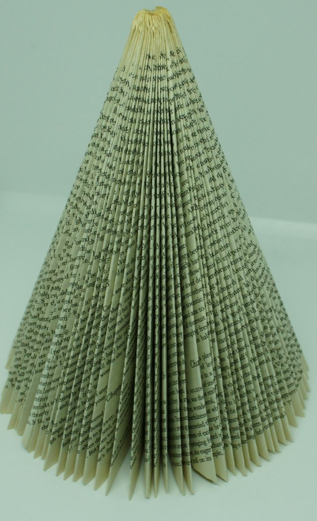Folded Book Christmas tree - folding completed