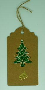 Green Christmas Tree Tag
