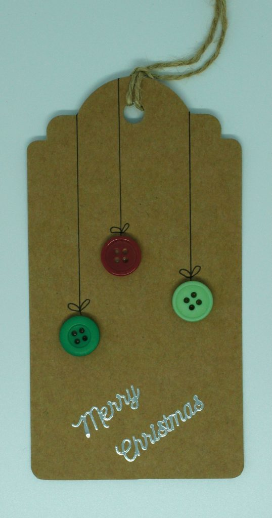 Button baubles tag