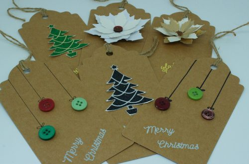 All Christmas Tags at an angle