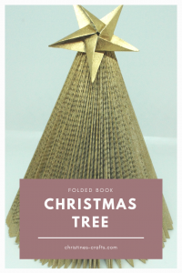 Folded Book Christmas Tree