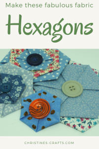 Fabric Hexagons pin 2