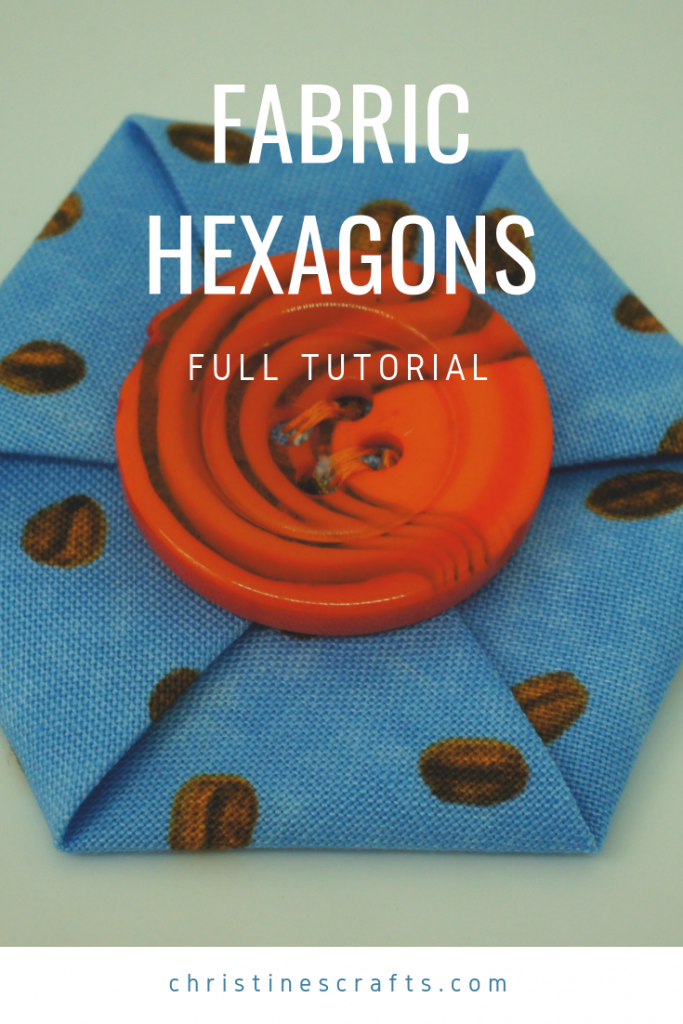 Fabric hexagons Pin