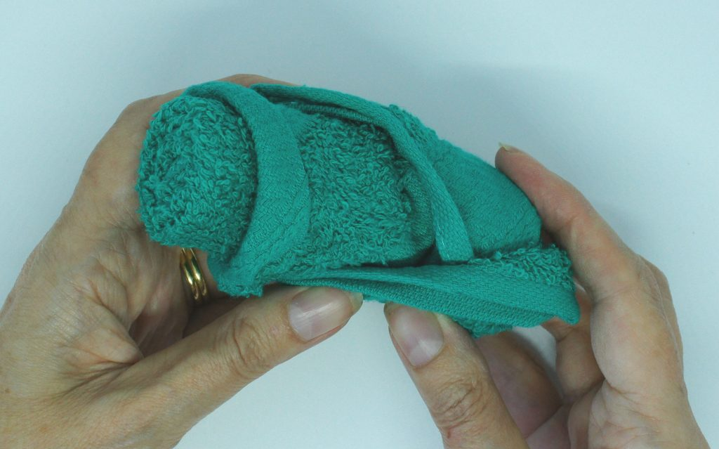 Washcloth roses - turned out