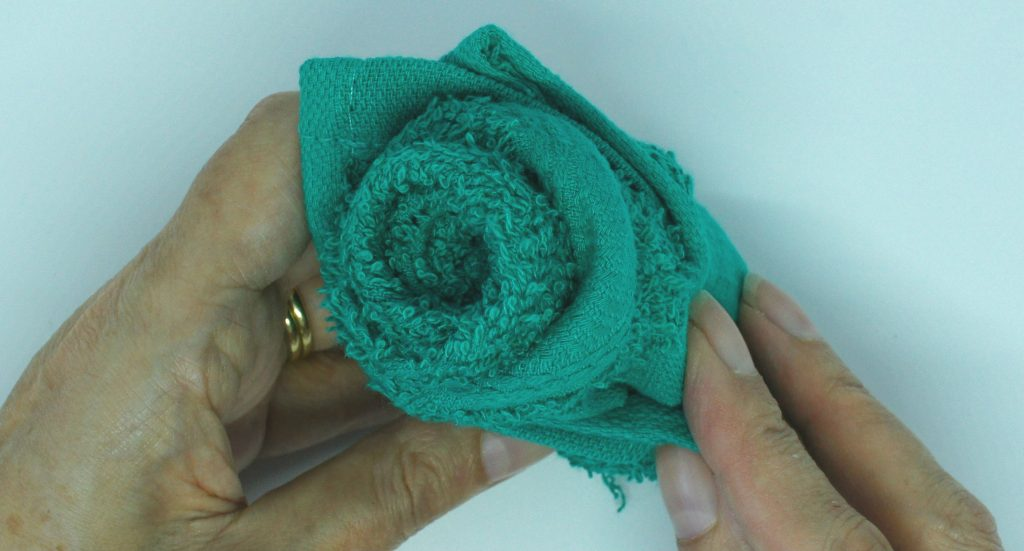 Washcloth roses - complete