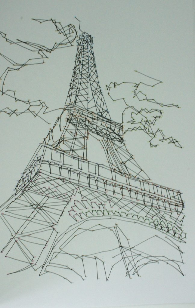 Eiffel Tower dot-to-dot completed