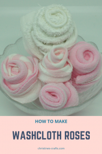 Washcloth roses