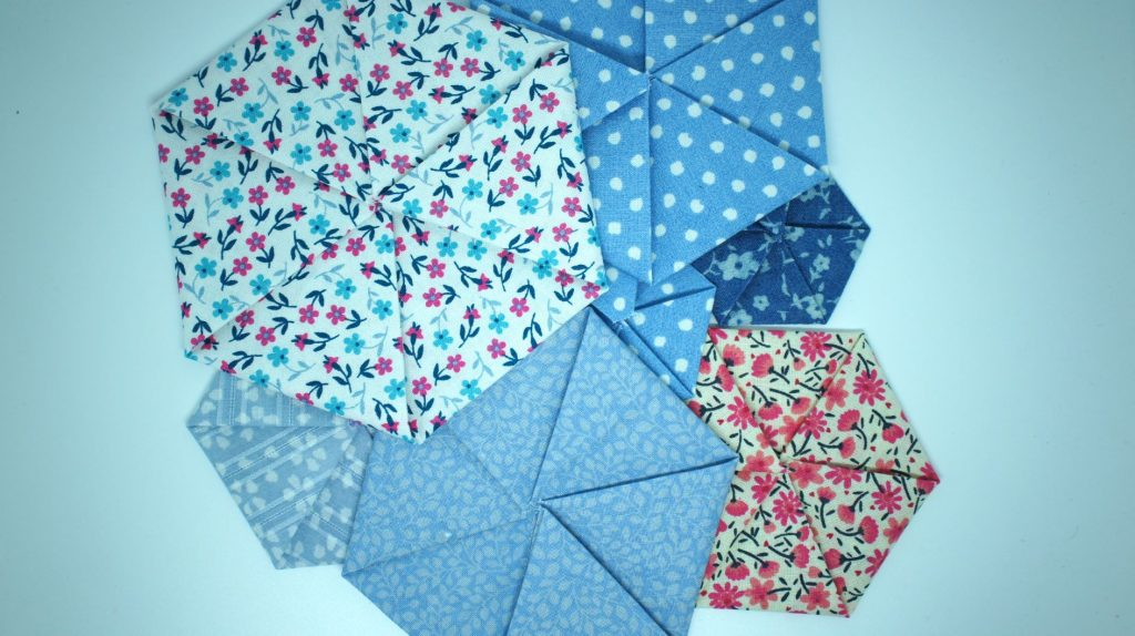 Completed Fabric Hexagons