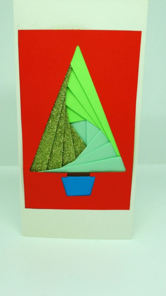Completed iris folding card