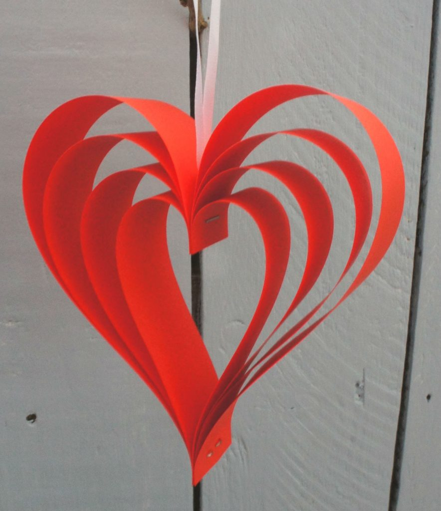 Red hanging heart