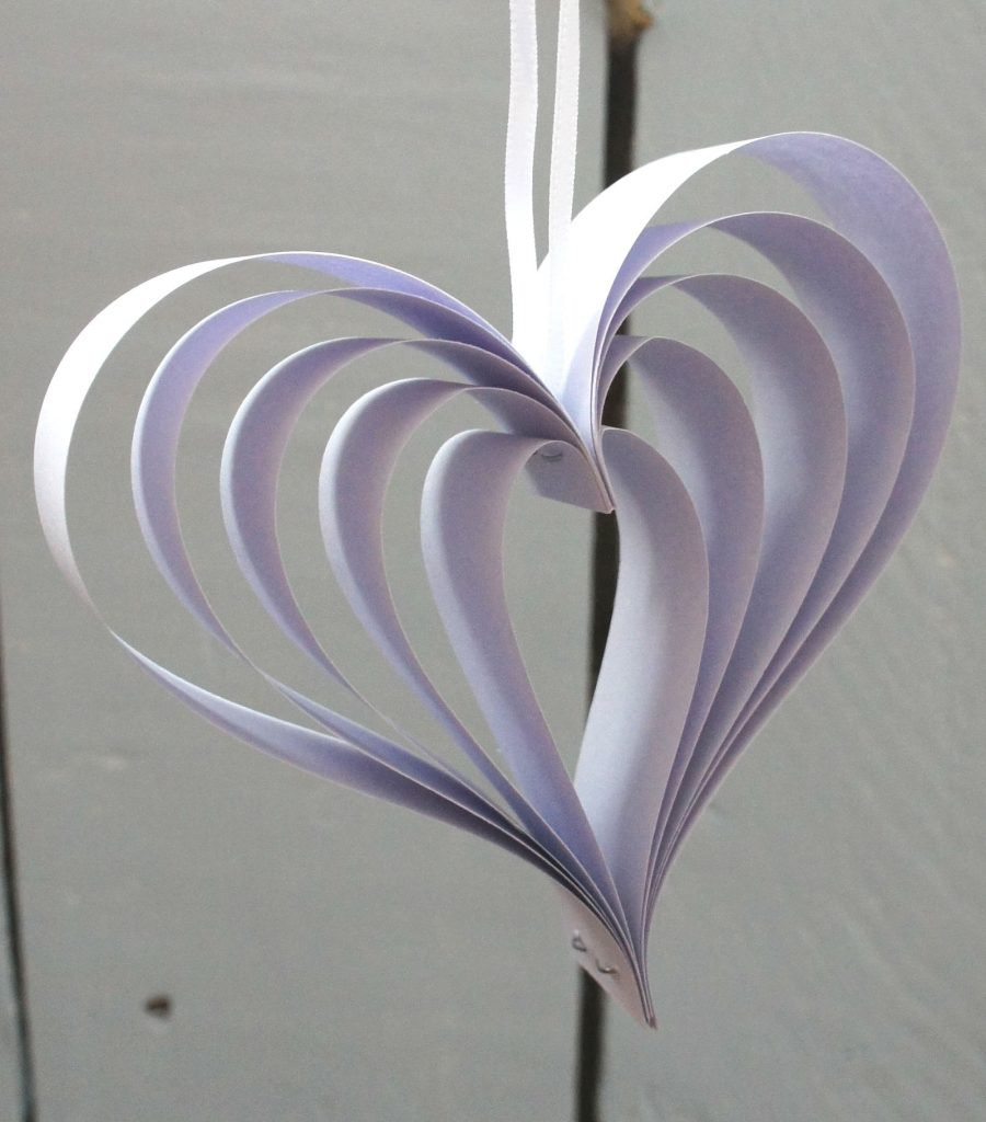 Lilac hanging heart