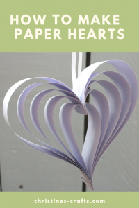 Lilac paper heart - hanging heart