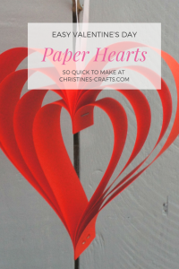 Red paper hanging Heart