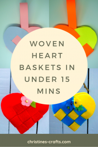 Woven Heart Baskets Pin