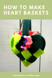 How to Make Heart Baskets Pin