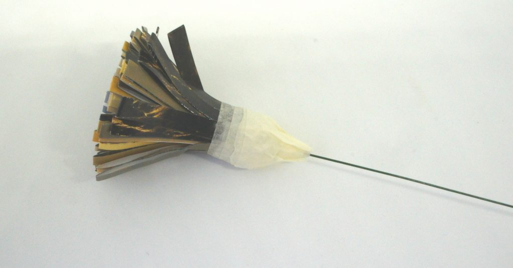 Masking tape on flower