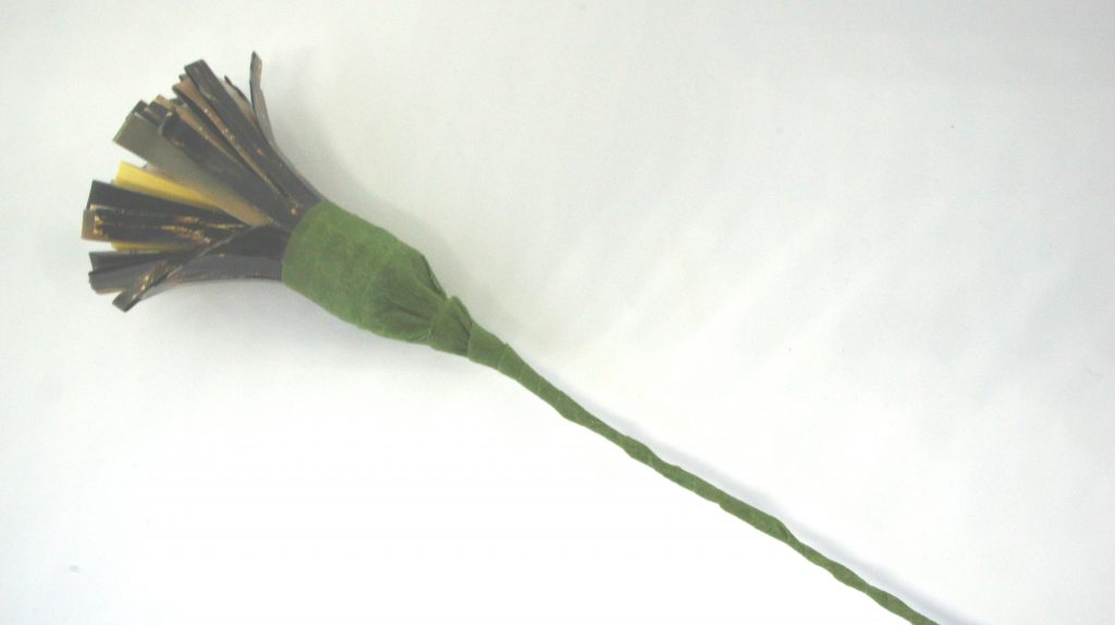 Florists' tape on flower stem