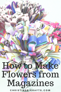 Magazine Flowers Pin