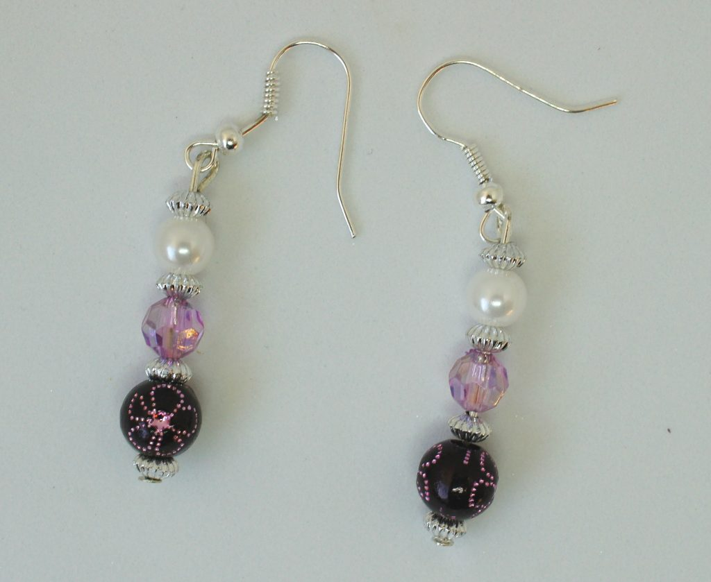 Completed earrings