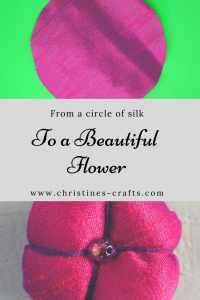 How to make Silk ball flowers