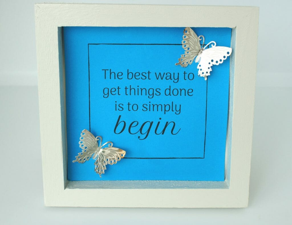 Framed Inspirational Picture Blue