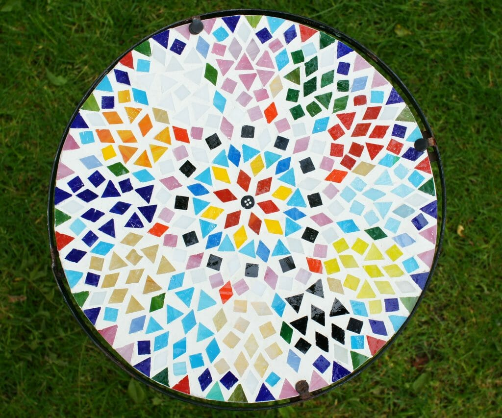 Completed Mosaic Table