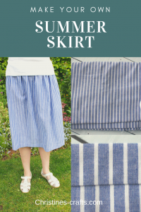 Simple summer skirt tutorial